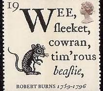 Robert Burns' famous poem might just as well apply to the wild rabbit--our local cottontail. Lagomorph, not rodent. Full text, in more modern language, follows later.